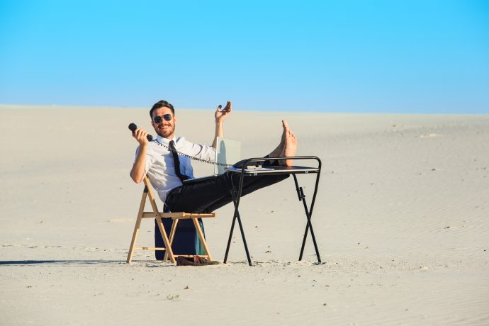 Trabajar desde playa